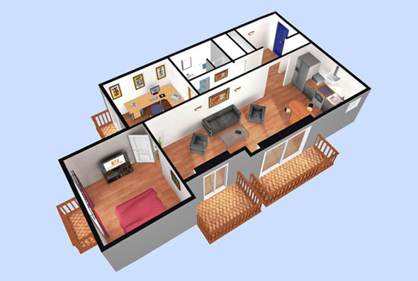 Plan de maison duplex 3d joy studio design gallery for Plans en 3d